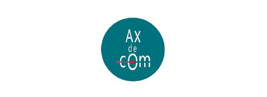 Logo de Ax de Com, communication et relations presse, partenaire de l'EPAS